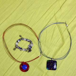 2 Necklace And A Braclet