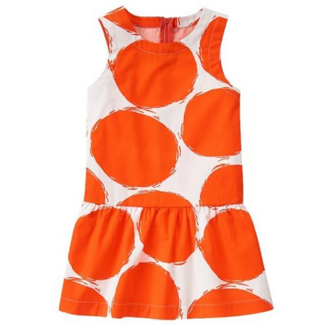 BN Size 5yr, 6yr Gymboree Red-Orange Sketched Bubble Dress For Kid Girl - Pkgymboree Pkgirl