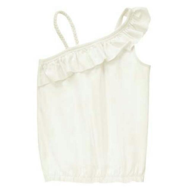 BN Size XS(4yr), S(5-6yr) Crazy 8 White Ruffle Tank Top For Kid Girl - Pkcrazy8 Pkgirl