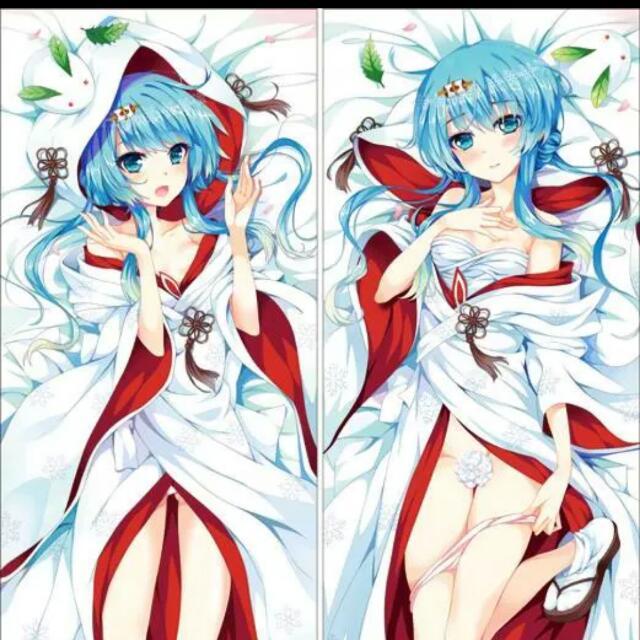 Christmas Special Vocaloid - Miku Dakimakura Body Pillow Casing Size: 150cm X 50cm, Toys & Games on Carousell