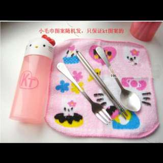 Chopstick, Bottle, Fork And Spoon For Kids