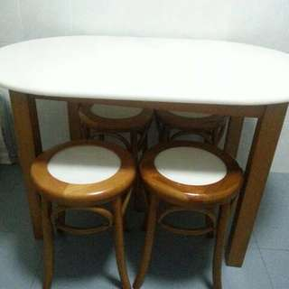 Marble Top Dining Table For 4.