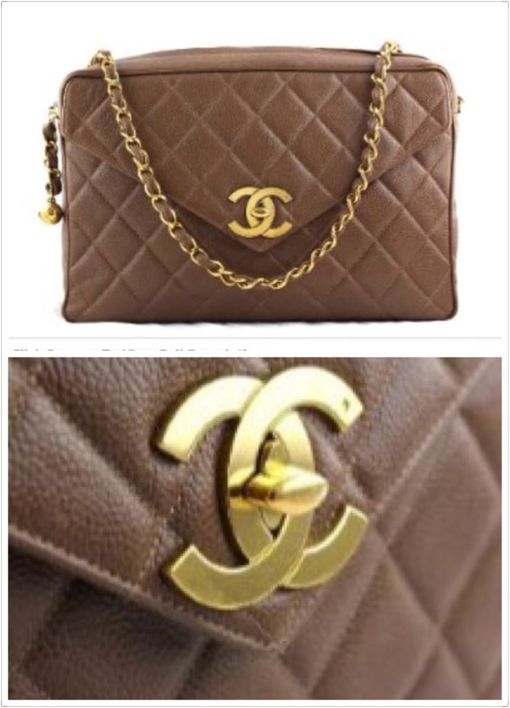 841a1228e4a716 Chanel Giant Taupe Brown Caviar Jumbo Classic Camera Bag with Flap ...