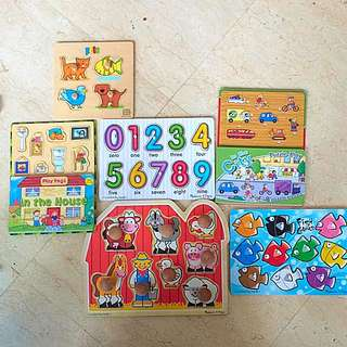 Six Puzzles For Toddlers