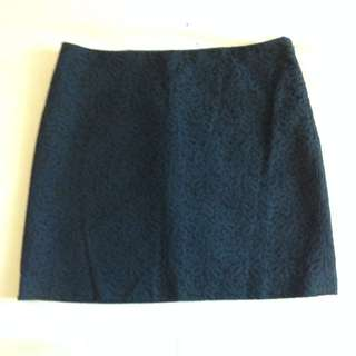 Club Monaco Navy Mini Skirt