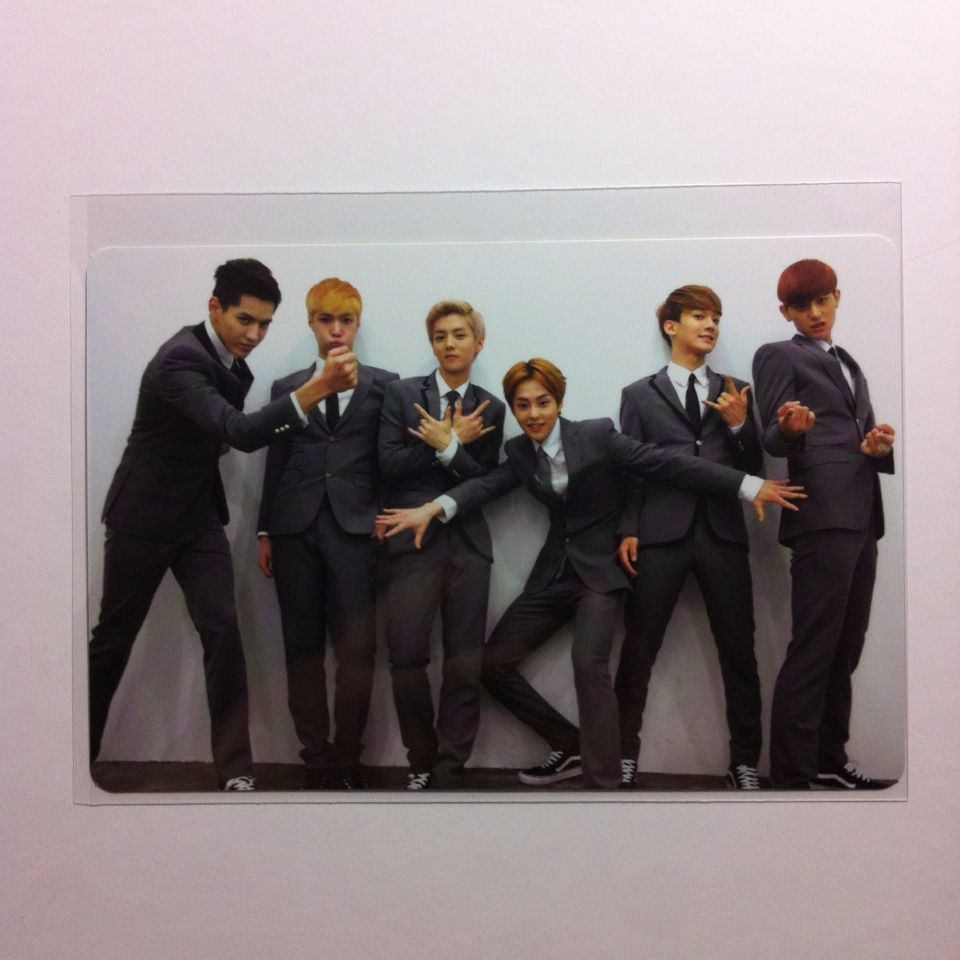 (Pending) EXO-M Growl Korean Press (first Press) Group Card