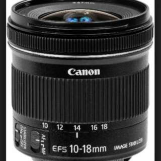 Canon EF S10-18 f4.5-5.6 IS STM