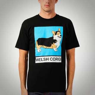Brand New Welsh Corgi Dog Ltd Tee - Black (L)