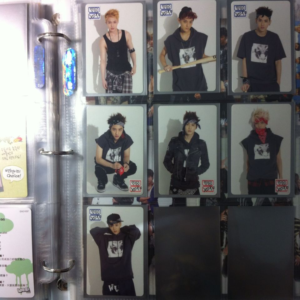 EXO SM Pop Up Store Photocards