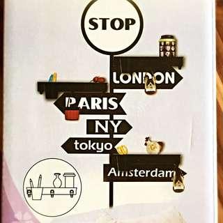 DIY (London & Amsterdam) Wall Sticker With 3 Shelves