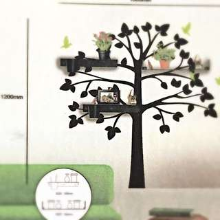 DIY (Tree) Wall Sticker With 3 Shelves