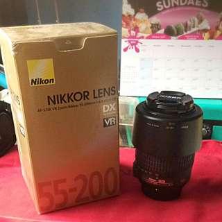 Nikkor Lens AF-S DX VR-Nikkor 55-200mm f/4 - 5.6G IF-ED