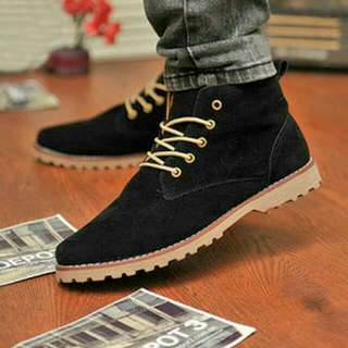 High-cut shoes (black)