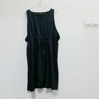 Muji Black Chill Drawstring Quirky Dress - Pending