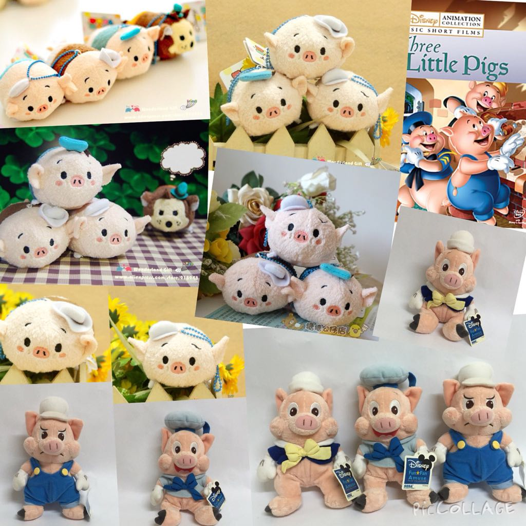 Three Little Pigs Tsum Plush Toys Games On Carousell
