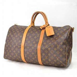 Authentic Louis Vuitton Keepall Bandouliere 55 Travel Hand Bag