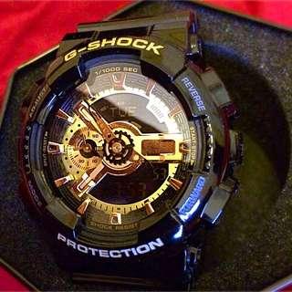 BNIB G-SHOCK HA-110 GB Black And Gold Face.