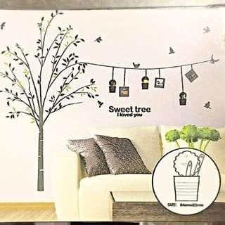 DIY Wall Deco Sticker With 3 Storage Pots