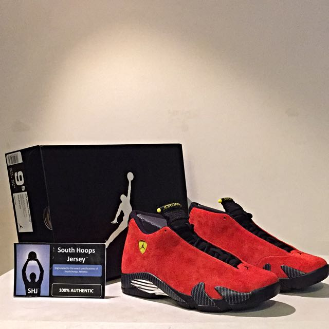 30609c667c2 Air Jordan 14 Retro (Ferrari) Reserved, Sports on Carousell