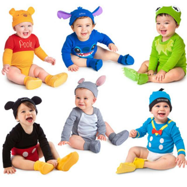Brand New Cute Disney Cartoon Characters Hat Romper Sets For Baby