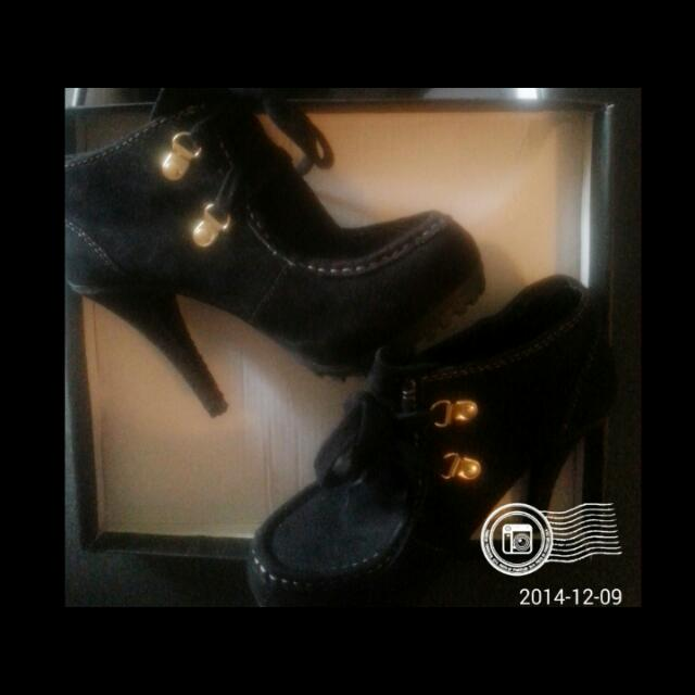 Textile Upper: Ankle High Heel Shoes. RESERVED!