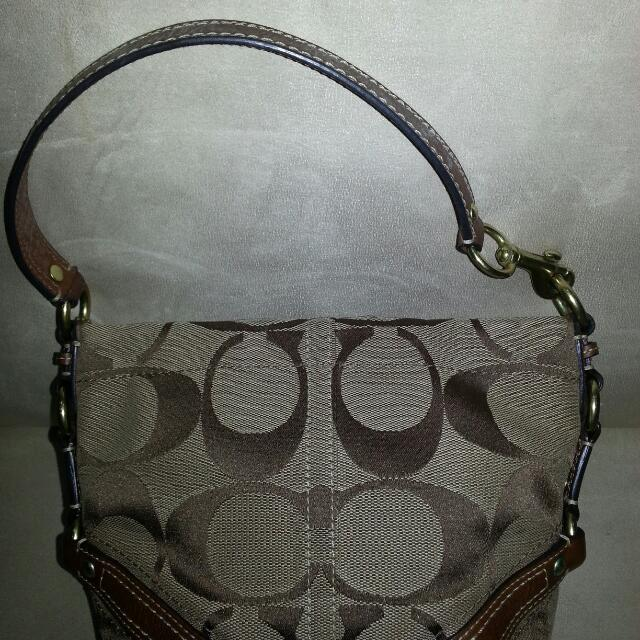 RESERVED: Preloved Authentic Coach Carly Signature Jacquard Tote