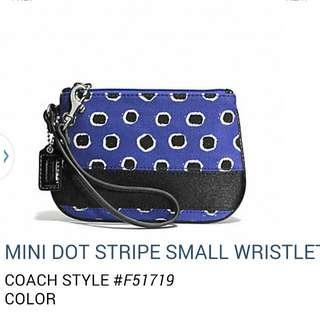 NEW AUTHENTIC COACH MINI DOT STRIPE SMALL WRISTLET F51719
