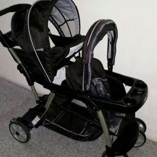 Graco Double Stroller Black
