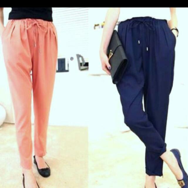 PJ Drawstring Basic Pants