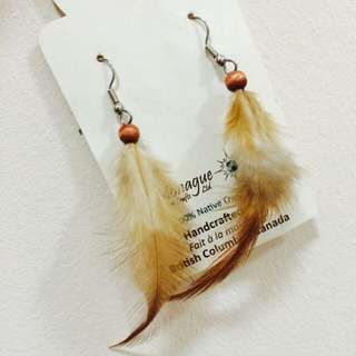 Monique Native Craft Feather Ear Ring