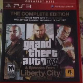 PS3 GTAIV COMPLETE EDITION