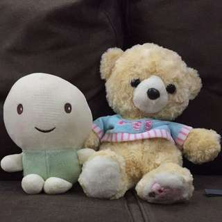 Turtle  And Bear Plush
