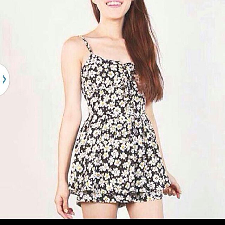 Daisy Floral Romper Dress