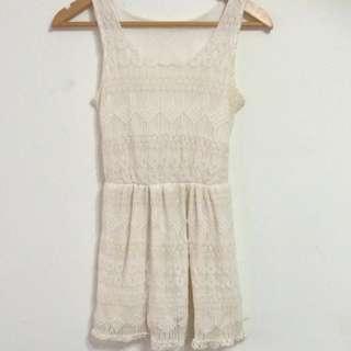 Off white crochet dress