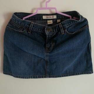 Pre-loved Authentic Abercrombie & Fitch Denim Skirt
