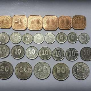 KING GEORGE 6 SILVER COINS COMPLETE SET (Out Station Frm 01/Dec/15 To 10/Mar/16)