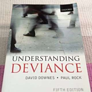 Sc2212 Textbook: Understanding Deviance