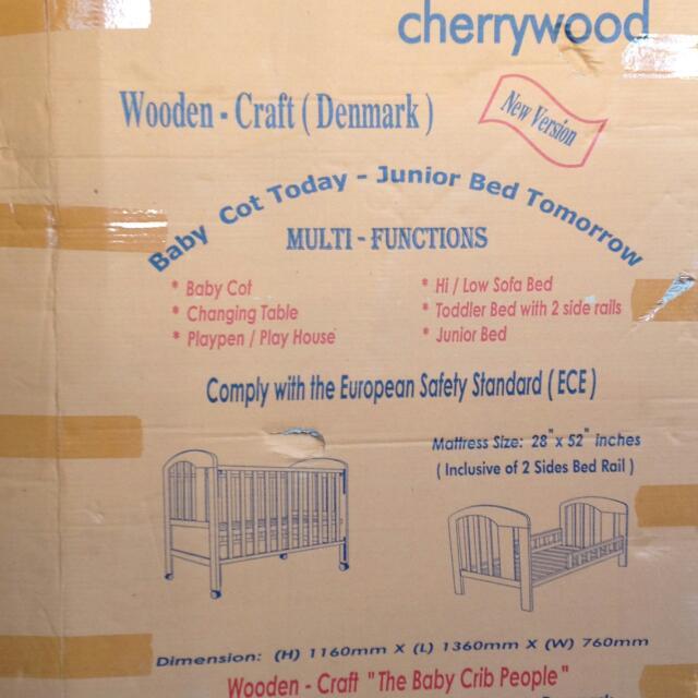 Clearance Sales! Bimbo Bella - Baby Cot Today, Junior Bed