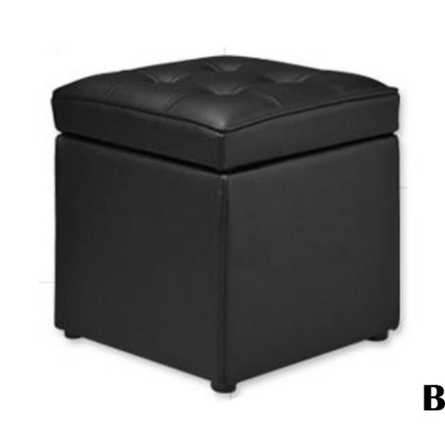 Black Cushioned Sofa Chair Storage
