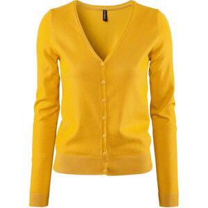 2e3ba16a3 H M Mustard Yellow Cardigan