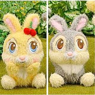 🐰Japan Disney Sega Furry Cherry Miss Bunny & Thumper Filled with Beanies Plush Doll