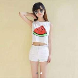 Watermelon Crop Top