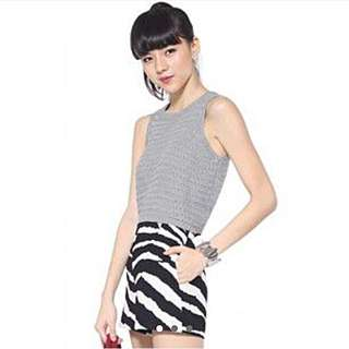 Grey Knit Cropped Top (lovebonito)