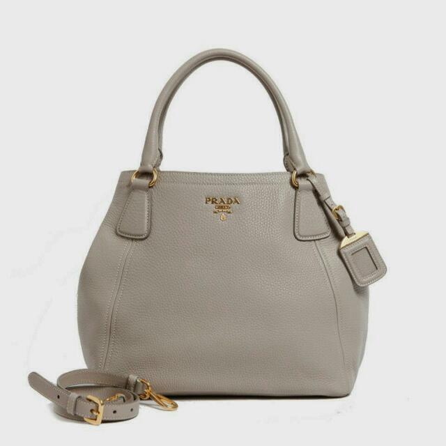 95351bd797a129 Prada BN 2534- Vitello Daino ( ARGILA), Luxury on Carousell