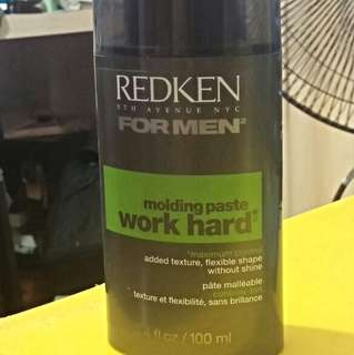 Redken Work Hard Molding Paste For Men, 3.4 Ounce