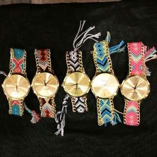 Braided Geneva Watches