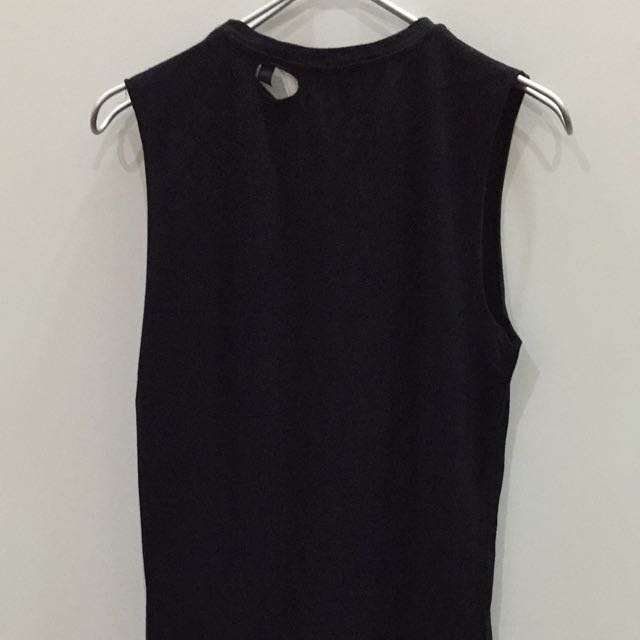 5d603e2f TOPSHOP (Tee&Cake) AC/DC Oversized Muscle Tank, Women's Fashion on Carousell