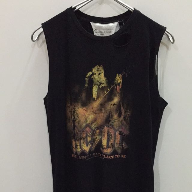 68d8496d TOPSHOP (Tee&Cake) AC/DC Oversized Muscle Tank, Women's Fashion on ...