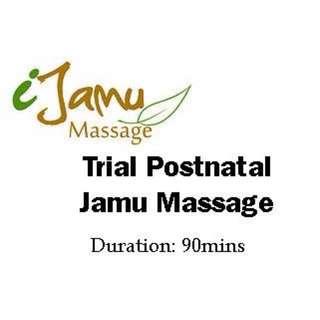Trial Postnatal Jamu Massage