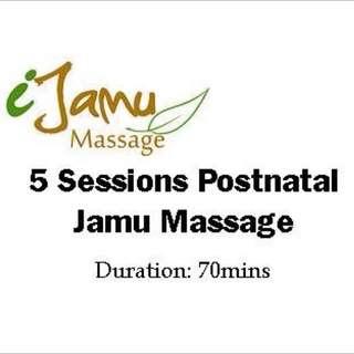 5 sessions Postnatal Jamu Massage